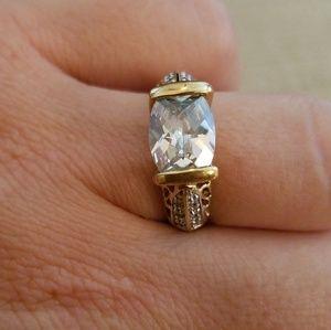 LIA SOPHIA - Oval center stone ring, sz 9
